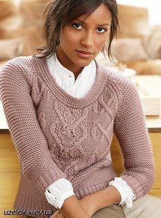 Вязание спицами кофт и свитера