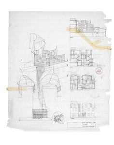 Peter salter walmer yard four houses london designboom presentation styles, architect drawing, plan sketch Architecture Sketchbook, Architecture Plan, Amazing Architecture, Architecture Details, Paper Architecture, Architecture Portfolio, Cool Drawings, Drawing Sketches, Sketching
