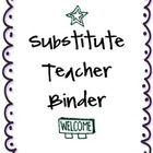 Substitute Teacher Binder! Fun purple theme with fonts from kevinandamanda.com! Includes an ocean, beach, hawaii, sea themed