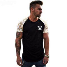 GYMLOCKER Mens T-Shirt Printed cotton Breathable undershirt Slim fit Short sleevel Gyms Fitness Bodybuilding tee tops Cheap T Shirts, Printed Shirts, Printed Cotton, Shirt Style, Sportswear, Casual Outfits, Slim, Sweatshirts, Tees