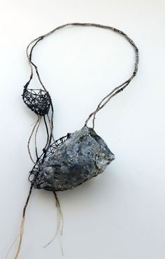 Akis Goumas Necklace: Transmission of a form Copper, PVC, threads, pigments…