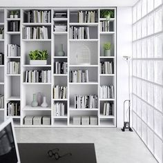 Looking for some inspiration for your living room shelves? These ideas will help you design the perfect storage to fit into your space. Bookshelves in Living Room Shelf Ideas. Best Interior Design, Home Interior, Interior Design Living Room, Living Room Designs, Home Library Design, Home Office Design, House Design, Bookshelves In Living Room, Wall Bookshelves