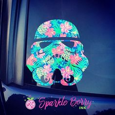 """You guys...it doesn't get any cuter than this """"Aloha Navy"""" Stormtropper! Thank you, Lauren for sharing your creation pic! Don't forget to tag us in your project pix using #SparkleBerryink #instalove #instagood #vinyljunkies #disney #stormtrooper #starwars #tuesday #silhouette #cricut #handmade"""