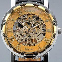 Men's Classic Skeleton Mechanical Wrist Watch