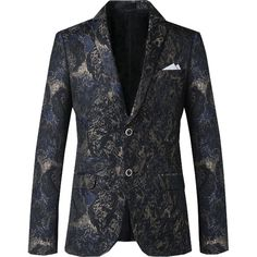 43a593c2ba89 new men Autumn winter fashion Korean style Slim fit suit male floral print  casual nightclub party blazer plus size