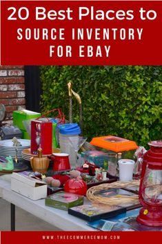 Selling on ebay is a great side hustle or full time job. Finding stuff to sell can be challenging. Here is a list of the 20 best places to source inventory for ebay.  These places are also great for Amazon, Poshmark, Etsy or Mercari. Make Money From Home, How To Make Money, Storage Unit Auctions, Garage Sale Tips, Ebay Selling Tips, Buying A Condo, Thrift Store Crafts, Earn More Money, Find A Job