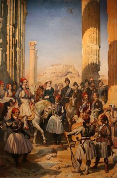 Greek Independence, Albanian Culture, Greek Warrior, Gothic Furniture, Exotic Art, Royal Guard, Europe, Dominique, Greek Art