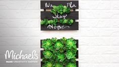 succulents pallet  for potting bench Stores About Michaels: Want to create something unique, get DIY tips, or add some sparkle to your life? Michaels® i...