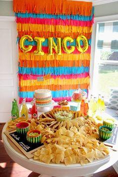 "Party Backdrop from Cinco ""en"" Mayo 5th Birthday Fiesta | Kara's Party Ideas"