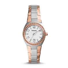 Fossil Colleague Three-Hand Date Stainless Steel Watch –Two-Tone
