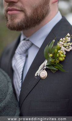 An origami owl locket would be perfect for this! photo locket boutonniere with the picture of a loved one. On Your Wedding Day, Wedding Blog, Wedding Photos, Wedding Ideas, Dream Wedding, Wedding Decorations, Boho Wedding, Rustic Wedding, Wedding Inspiration