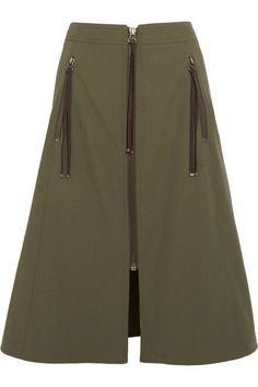 KENZO - Cotton-twill Skirt - Army green - FR