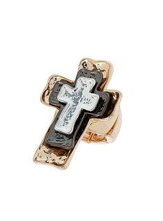 Mixed Metal layered cross ring- Dorothy Perkins £8.50