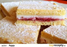 Linecký tvarohový koláč s pikantní marmeládou recept - TopRecepty.cz Perfect Cheesecake Recipe, Cheesecake Recipes, Marmalade Recipe, Czech Recipes, Salty Foods, Sweets Cake, Something Sweet, Desert Recipes, Creative Food