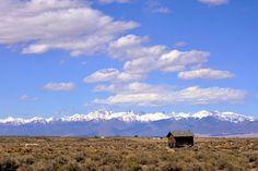 The Sangre de Cristo Mountain range in southern Colorado