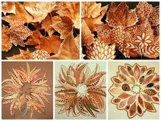 pintar hojas secas