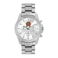 Maryland Terrapins Knockout Ladies Silver Wrist Watch