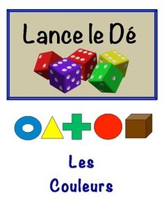 French Color Vocabulary Speaking Activity for Small Groups (Dice)