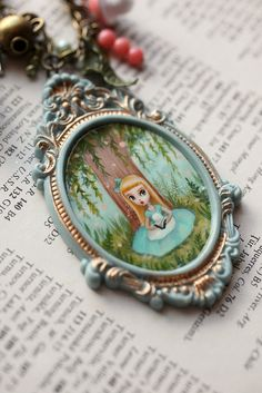 Alice Reads - From the Alice Collection - original cameo by Mab Graves by mab graves, via Flickr