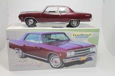 RARE LANE 1:18 SCALE DIECAST EXACT DETAIL 1965 CHEVY MALIBU SS MAROON HTF #Lane #Chevrolet