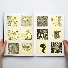 Sketching on Post-its and then placing them in a notebook. I would like to try this!