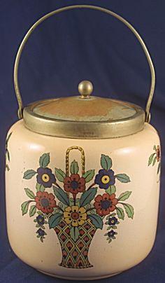 English Art Deco Biscuit Jar