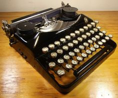 1929 Bijou Modell 5 - This machine holds an almost mythical status, and for good reason. An amazing personal writer perfectly blending beauty and form. Photo courtesy Robert Messenger @ the OZ Typewriter Blog.