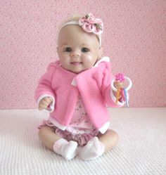 4 PC Bubble Romper for a 910 OOAK Baby Doll Pink by SewCute4U2, $12.99