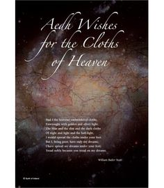 Aedh Wishes for the cloths of heaven id perhaps Yeats' most famous short love poem. It was written in Our Giclee print image features a stunning shot of the heavens, a spiral galaxy, captured by NASA's Hubble telescope. Spiral Galaxy, Love Poems, Giclee Print, The Darkest, Wish, Poetry, Writing, Cloths, Heavens