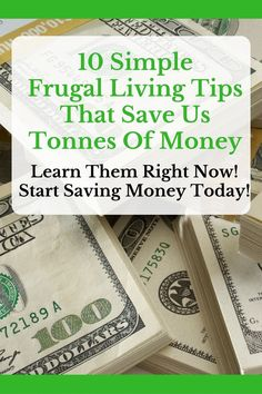 Are you wanting to save money? Learn how to save money TODAY with these 10 simple frugal living tips!