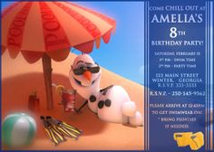 Disney Frozen Birthday party Invitation card digital by VintageDS, $9.99
