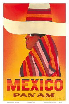 Pan American: Mexico, c.1968 Posters bij AllPosters.nl