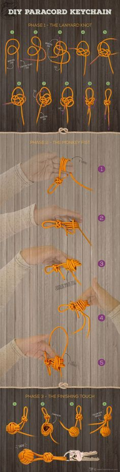 A beginner friendly guide to making a DIY Paracord Keychain