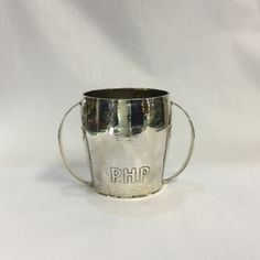 Arts and Crafts Hand-Hammered Loving Cup   #silvercollection