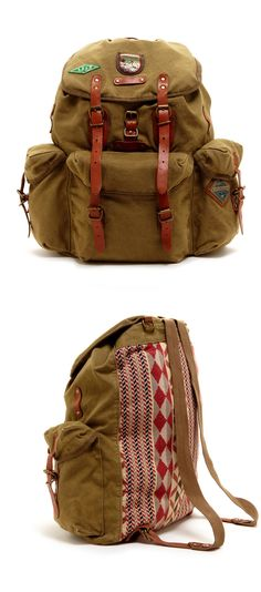 Canvas + Leather Backpack Gosh, I want this Canvas Backpack, Backpack Bags, Leather Backpack, My Bags, Purses And Bags, Men's Backpacks, E Mc2, Canvas Leather, Camping