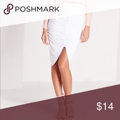 Miss Guided white skirt Miss Guided white rouched skirt Miss Guided Skirts Midi