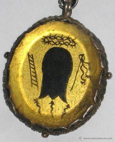 Antigüedades: RELICARIO PINTADO MUY ANTIGUO - Foto 2 - 54988894