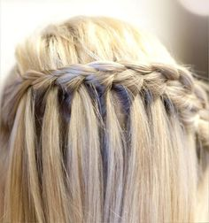 Fishnet braid, waterfall braid, rope braid { instructions }