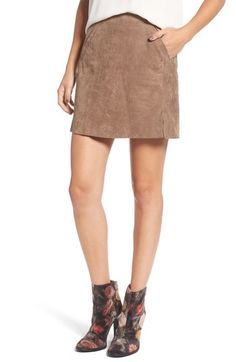 BLANKNYC Suede Miniskirt available at #Nordstrom
