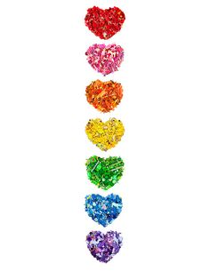 I think these hearts are made out of colored pencil shavings