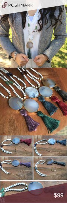 Spotted while shopping on Poshmark: ✳️SALE✳️Natural Stone Necklace! #poshmark #fashion #shopping #style #Function & Fringe #Jewelry