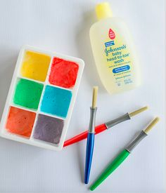 DIY Bath Paints- so easy! (Via @morgan85)