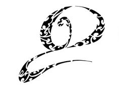 D | letter d tribal tattoo lettering