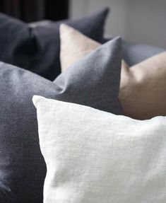 Love this palette - cream, gray, taupe, black