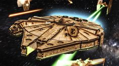 I have not seen this posted anywhere on GF yet. C4 labs has just released the cut files for a laser-cut YT-1300 Light Freighter (looks like a Millennium Falcon to me, but I'm sure Star Wars fans will soon point out the difference to me). [image] There are also 2 Star Wars ornaments. One's an X wing, and the other a Tie Fighter, I think. You can find the cut files at: Although you have to be registered to get the files.