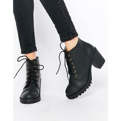 London Rebel Perdy Platform Lace Up Heeled Ankle Boots ($59) ❤ liked on Polyvore featuring shoes, boots, ankle booties, black, black platform boots, lace up boots, black bootie, lace up platform booties y platform ankle boots