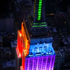 Empire State Building, NYC ... When New York decided to go for Equality, they made the Empire State Building rainbow colors.