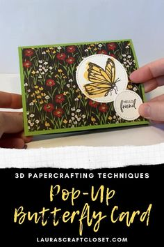 Pop Up Flower Cards, Pop Out Cards, Cool Cards, Fancy Fold Cards, Folded Cards, Popup Cards Tutorial, Barbie Ballet, Flying Butterfly Card, Butterfly Cards Handmade