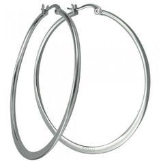 Stainless Steel Thin Hoop Earrings