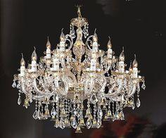 Golden Bell Crystal Chandelier